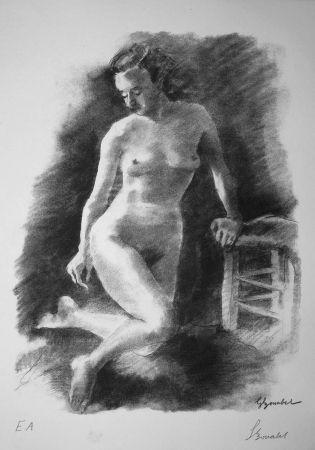 リトグラフ Bonabel - Louis-Ferdinand Céline - Litographie Originale / Original Lithograph - Autoportrait/Self-portrait - 1945