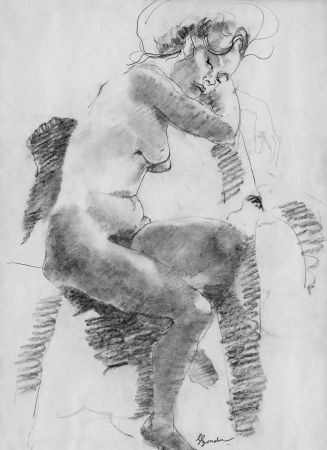 リトグラフ Bonabel - Louis-Ferdinand Céline - Litographie Originale / Original Lithograph - Autoportrait/Self-portrait - 1958
