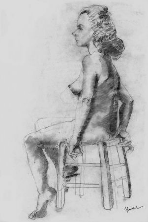 リトグラフ Bonabel - Louis-Ferdinand Céline - Litographie Originale / Original Lithograph - Nu Feminin / Female Nude - 1938