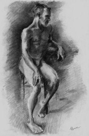 リトグラフ Bonabel - Louis-Ferdinand Céline - Litographie Originale / Original Lithograph - Nu Masculin / Male Nude - 1938
