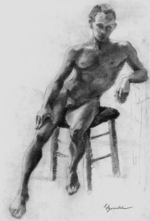 リトグラフ Bonabel - Louis-Ferdinand Céline - Litographie Originale / Original Lithograph - Nu Masculin / Male Nude 1938
