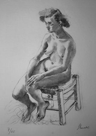 リトグラフ Bonabel - Louis-Ferdinand Céline - Nu Feminin - Female Nude - 1938