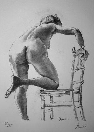 リトグラフ Bonabel - Louis-Ferdinand Céline - Nu Feminin / Female Nude - 1938
