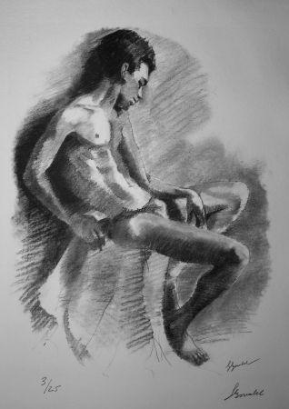リトグラフ Bonabel - Louis-Ferdinand Céline - NU MASCULIN / MALE NUDE - 1938