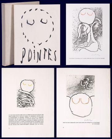 挿絵入り本 Alechinsky - Louis Scutenaire et Pierre ALechinsky : POINTES (17 gravures monogrammées) 1972.