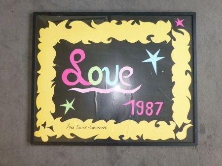 掲示 Saint Laurent - Love 1987