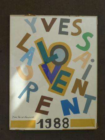 掲示 Saint Laurent - Love 1988