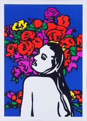 リトグラフ Pusenkoff - Love & flowers