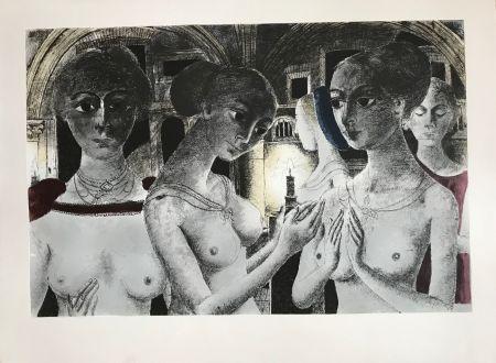 シルクスクリーン Delvaux - Ls Gothiques