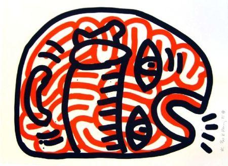 リトグラフ Haring - Ludo 2