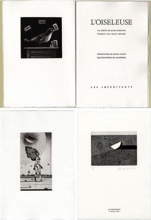 挿絵入り本 Assadour - Luigi Mormino : L'OISELEUSE (L'UCCELLATRICE). Gravures d'Assadour, frontispice d'Avati