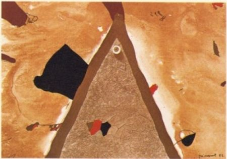リトグラフ Guinovart - L'ull 1982