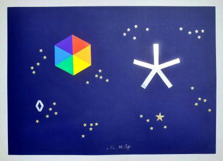 シルクスクリーン Del Pezzo - L'universo di stelle