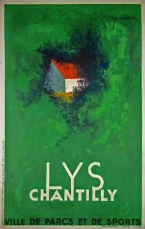 リトグラフ Cassandre - Lys Chantilly