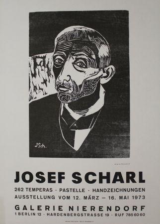 木版 Scharl - Männerbildnis
