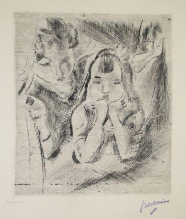 ポイントーセッシュ Pascin - Mère et fille