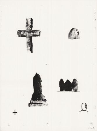 リトグラフ Le Groumellec - Mégalithes