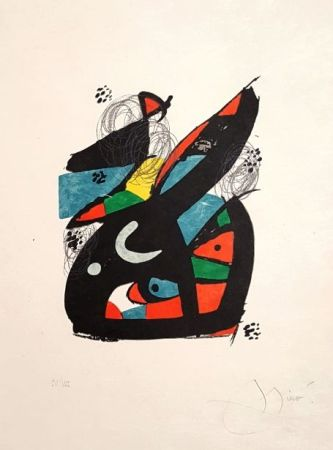 リトグラフ Miró - Mélodie Acide