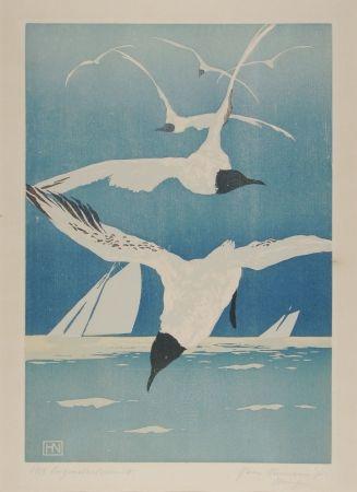 木版 Neumann - Möven (Seagulls)