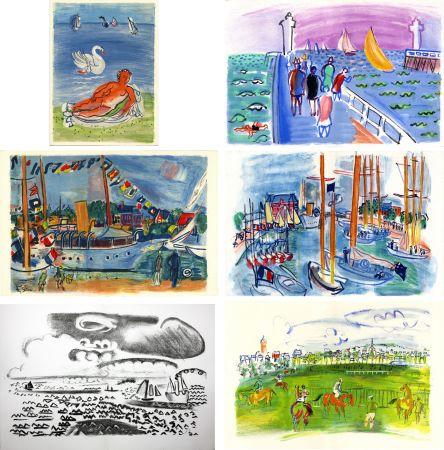 挿絵入り本 Dufy - M. de Saint-Pierre : LES CÔTES NORMANDES. Lithographies de Raoul Dufy (1961)