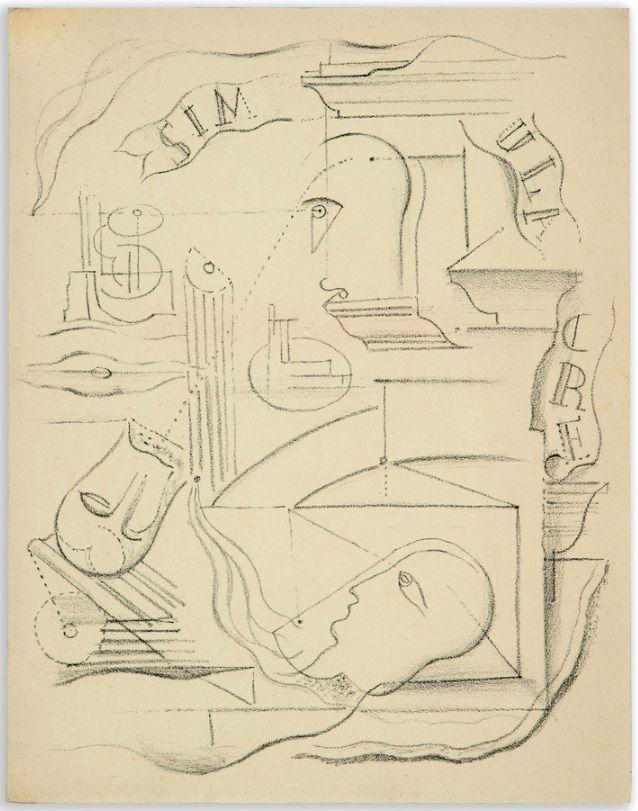 挿絵入り本 Masson - M. Leiris & A. Masson : SIMILACRE. Poèmes et lithographies (1925)