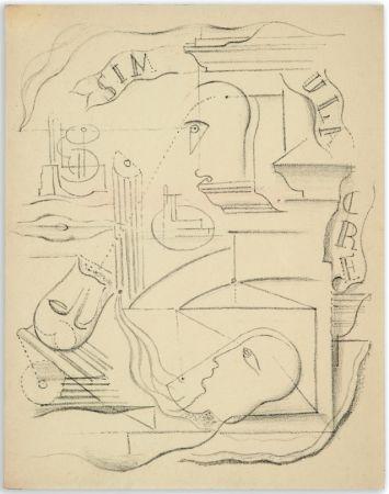 挿絵入り本 Masson - M. Leiris & A. Masson : SIMULACRE. Poèmes et lithographies (1925)