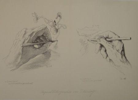 リトグラフ Kreidolf - M. linke Hand mit der rechten gezeichnet, m. rechte Hand mit der linken gezeichnet.