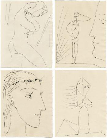 挿絵入り本 Picasso - M. Toesca : SIX CONTES FANTASQUES. 6 gravures originales (1953)