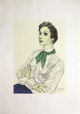 リトグラフ Foujita - Madame  Conchita Mendes