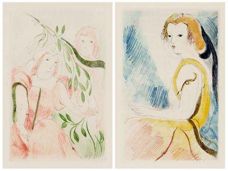 挿絵入り本 Laurencin - Madame de Lafayette : LA PRINCESSE DE CLÈVES (1947)