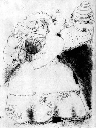 エッチング Chagall - Madame Korobotchka