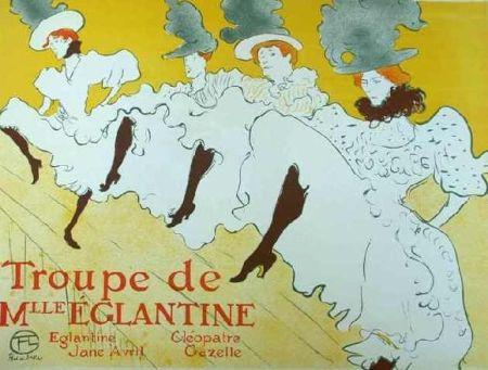 リトグラフ Toulouse-Lautrec - Mademoiselle Eglantine