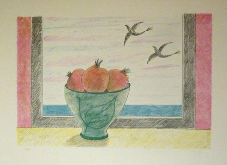 リトグラフ Girona - Magranes i ocells