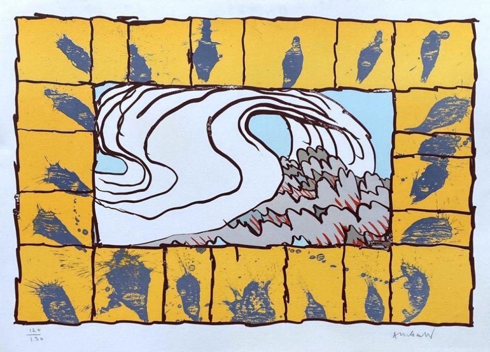 リトグラフ Alechinsky - '' Maitresse Vague ''