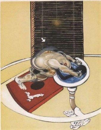 エッチングと アクチアント Bacon - Man at the washbasin