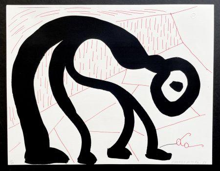 技術的なありません Hockney - Man Looking for his glasses, April 1986