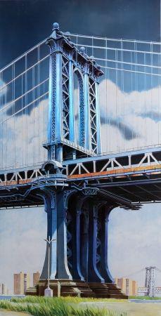 リトグラフ Haas - Manhattan Bridge