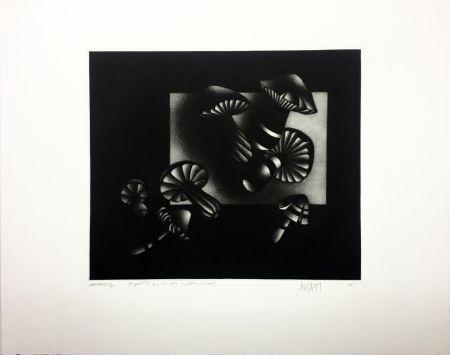メゾチント彫法 Avati - Manière noire aux champignons (1964)