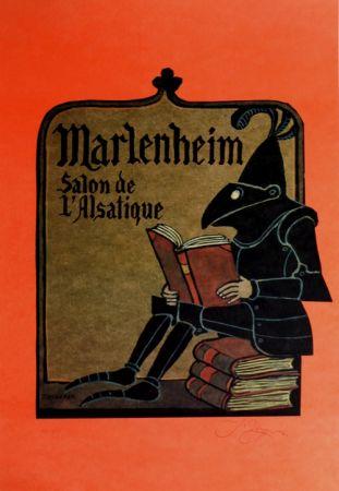 リトグラフ Ungerer - Manlenheim   Salon de L'Alsatique
