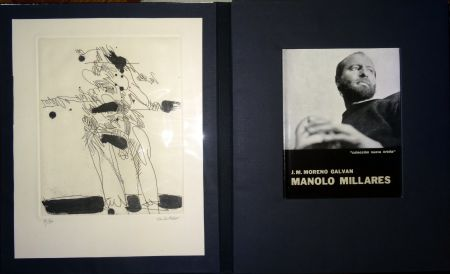 挿絵入り本 Millares - Manolo Millares - Colección Nueva orbita - Incluye un aguafuerte - Firmado y numerado