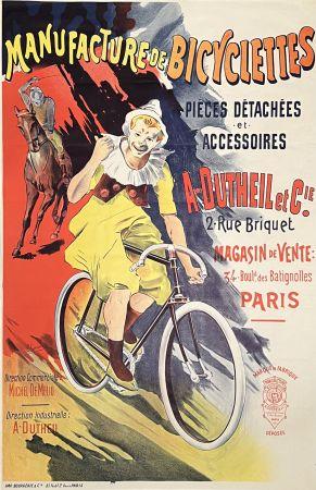 リトグラフ Corrois - Manufacture De Bicyclettes