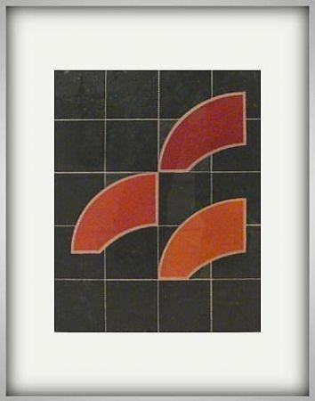 彫版 House - Manuscript Red