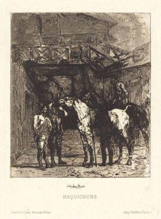 エッチングと アクチアント Lewis-Brown - Maquignons / Horse Dealers