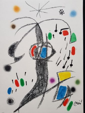 リトグラフ Miró - Maravillas con variaciones acrósticas en el jardín de Miró - 19