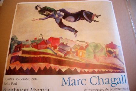 掲示 Chagall - Marc Chagall - Cartel Exposicion Retrospectiva Fundacion Maeght 1984