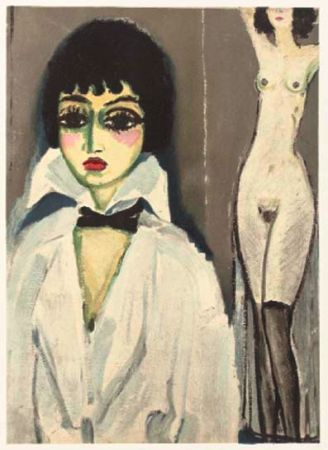 リトグラフ Van Dongen - Marcele Leoni with nude