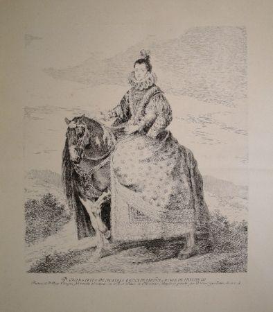 エッチング Goya - Margarita de Austria Reyna de Espagna, Muger de Phelipe III