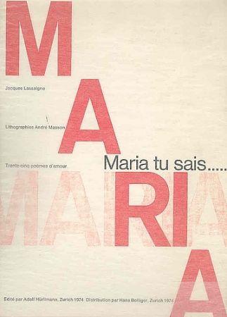 挿絵入り本 Masson - Maria, tu sais