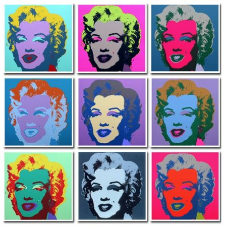 技術的なありません Warhol (After) - Marilyn Collection a Set of 10 in different colours