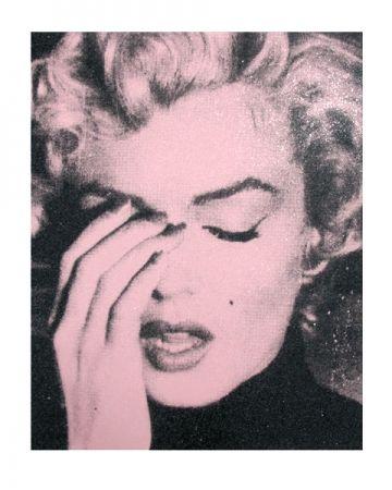 シルクスクリーン Young - Marilyn Crying, Powder Pink